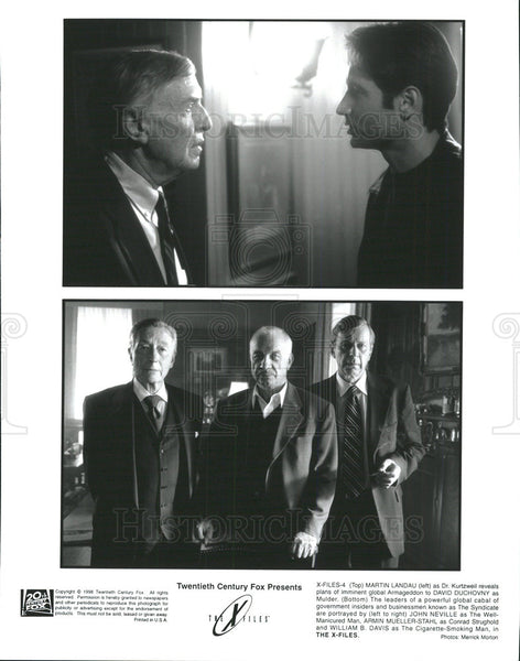 1998 Press Photo David Duchovny stars in The X-Files - Historic Images