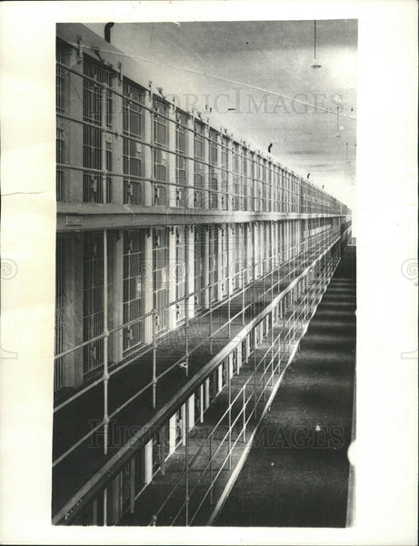 1935 Press Photo San Quentin Scene of Jailbreak - Historic Images