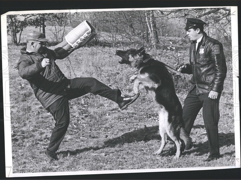 1971 Press Photo Police Dog Canine Corps Bankowski - Historic Images