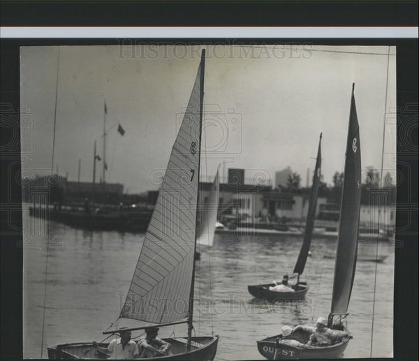 1940 Press Photo Sailboats Regatta Columbia Yacht Club - Historic Images