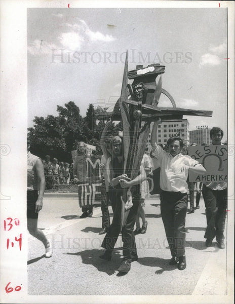 1970 Press Photo Protest University Florida Sarasota - Historic Images