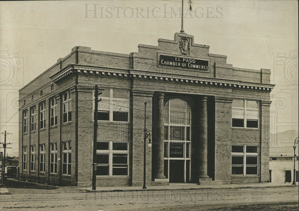 1912 Press Photo Chamber of Commerce in El Paso, TX - Historic Images