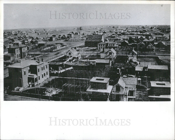 Press Photo view Denver Colorado in 1874 - Historic Images