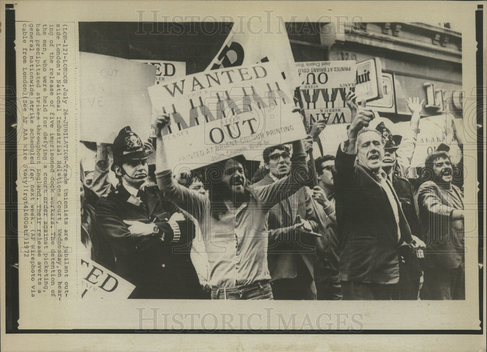 1972 Press Photo Great Britain Labor Strike - Historic Images