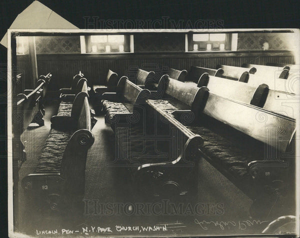 1913 Press Photo President Lincoln's Pew - Historic Images