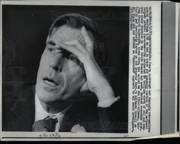 1967 Press Photo Galbraith Harvard professor economics - Historic Images