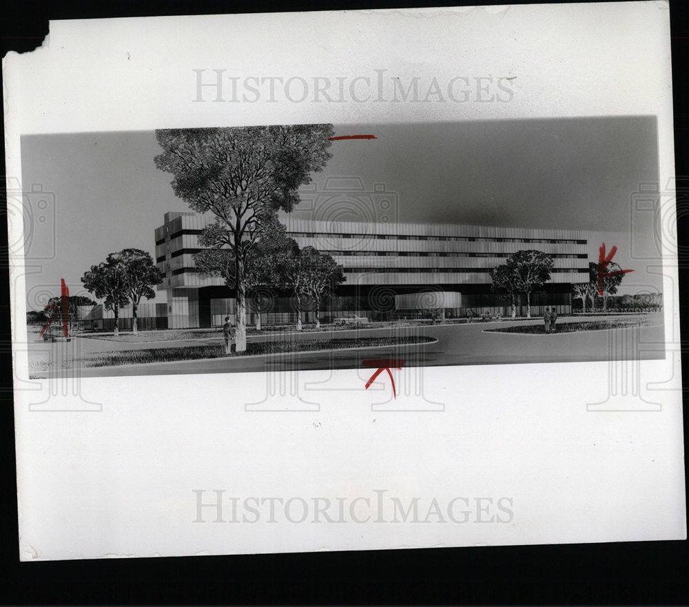 1972 Press Photo Southwest Hospital - Historic Images