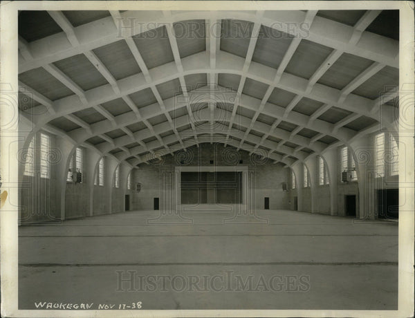 1939 Press Photo A Typical Drill Hall & Auditorium - Historic Images
