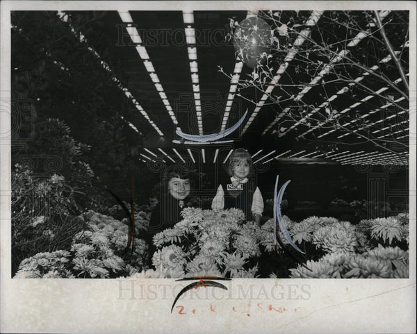1966 Press Photo Builders Home Furn Flower Show Chicago - Historic Images