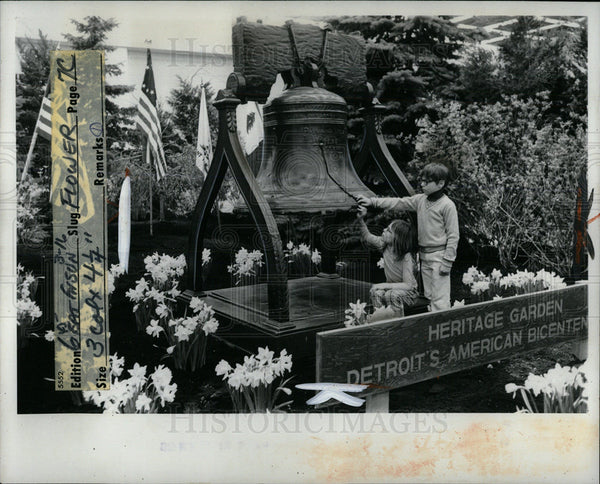 1975 Press Photo Heritage garden Home Furniture show  - Historic Images