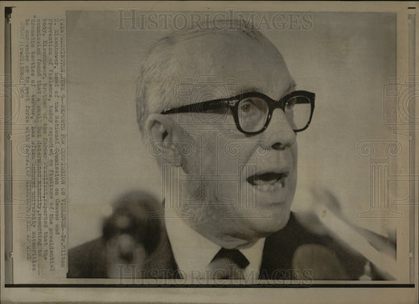 1969 Press Photo Dr Milton S Eisenhower president - Historic Images