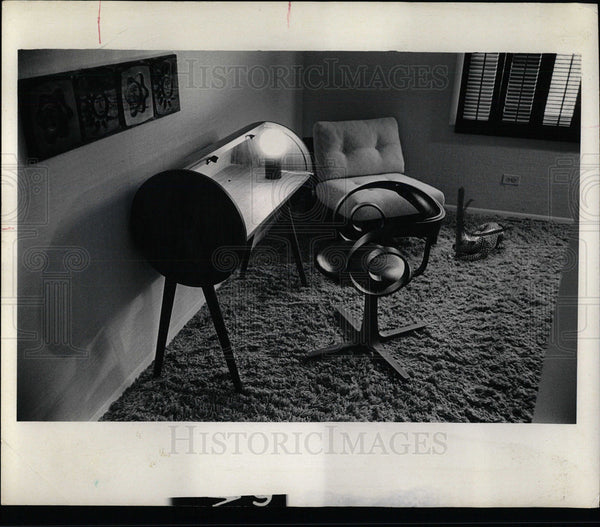 1969 Press Photo Danish Furniture Interior Decorating  - Historic Images