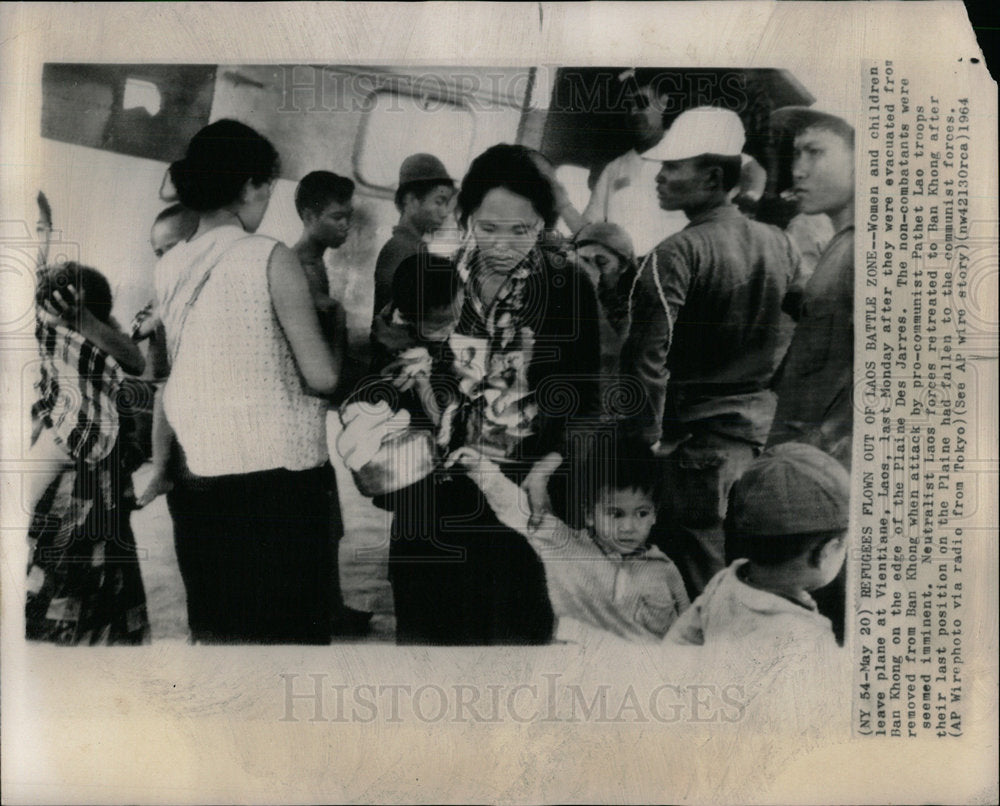 1964 Press Photo War Citizens Vientiane Laos  - Historic Images