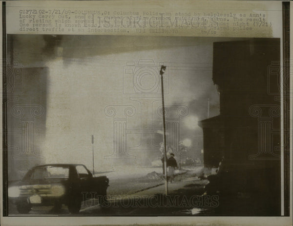 1969 Press Photo Columbus Ohio Racial Riots  - Historic Images
