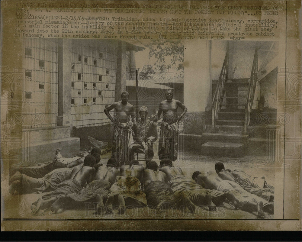 1969 Press Photo Dahomey Tribalism colonial powers King - Historic Images