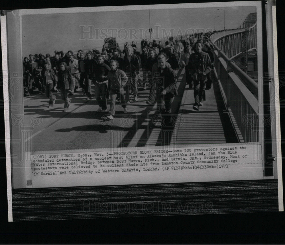 1971 Press Photo Photosphere Some nternational Bridge   - Historic Images