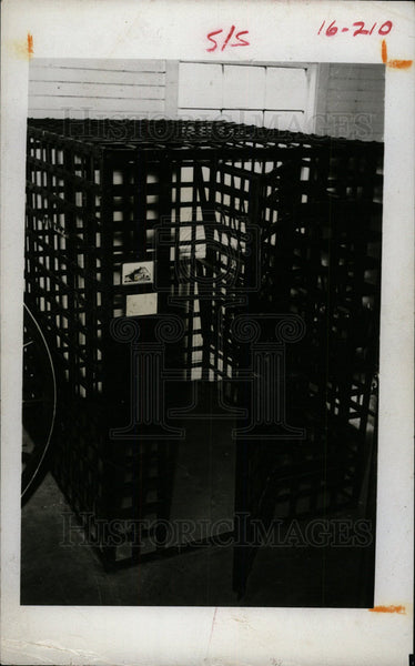 1969 Press Photo Cage For The Indigent - Historic Images