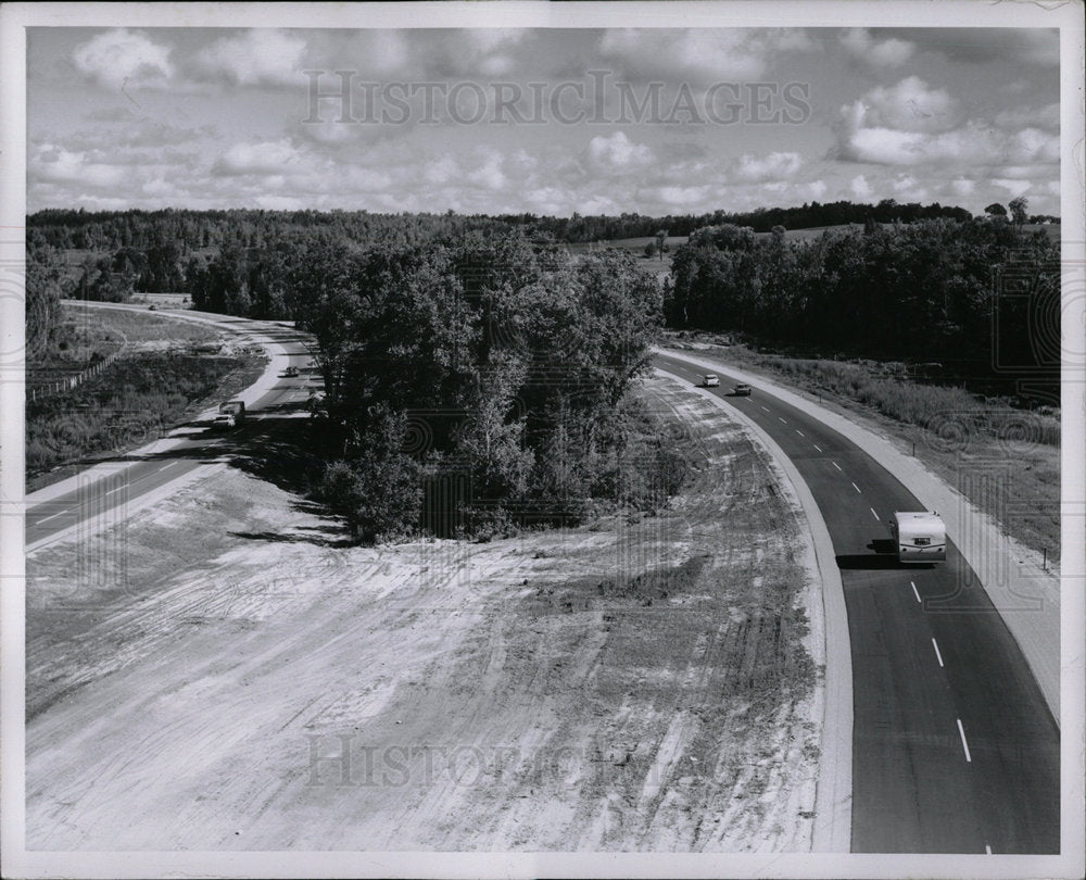 1971 Press Photo I-75 Highway Road Vanderbilt Michigan - Historic Images