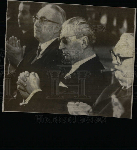 1966 Press Photo Chancellor Georg Kiesinger w/ Dr. Bruno Heck Christian Democrat - Historic Images