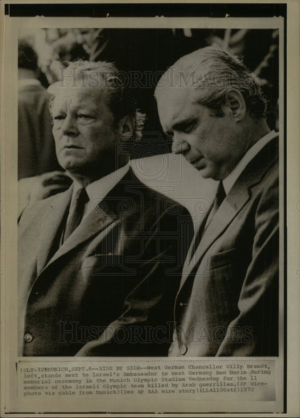 1972 Press Photo Chancellor Willy Brandt west Ceremony  - Historic Images