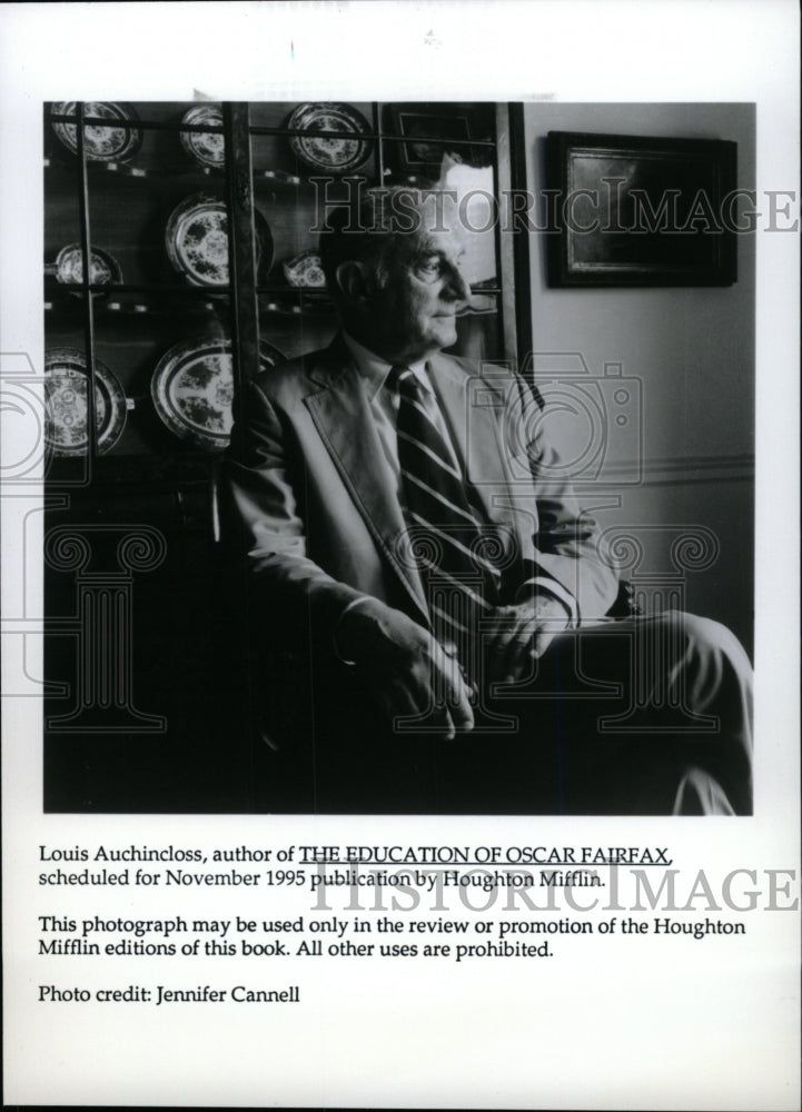 1995 Press Photo Louis Auchincloss, author of The Educa - Historic Images