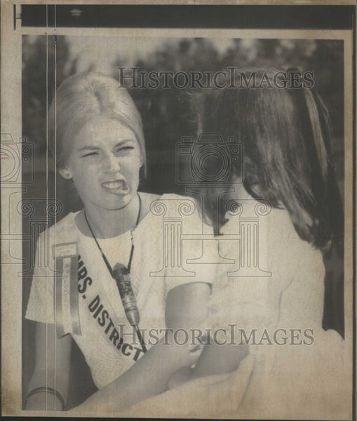 1967 Press Photo Candice Lynn Koch, Mrs. District of Co- RSA41121 - Historic Images