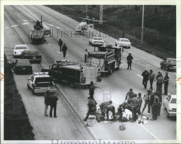 1986 Accident State Trooper Killed Itasca H - Historic Images