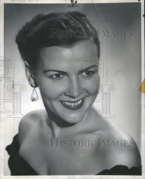 1952 Press Photo Lyrically Yours songstress Beth Lee - Historic Images