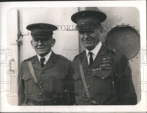 1928 Press Photo Gen John Lejeune Gen Logan Feland US- RSA49503 - Historic Images