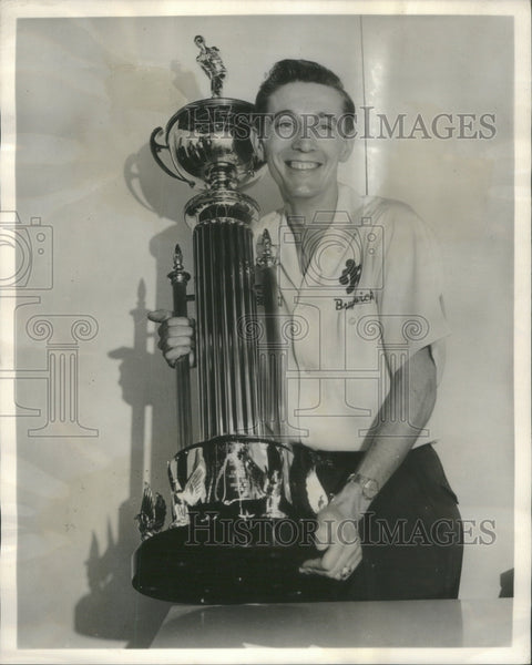 1960 Press Photo Brunswick Star Bowler, Billy Golembiewski - Historic Images
