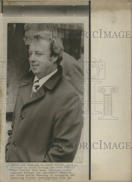 1971 Press Photo  Jack L. Chestnut campaign manager for Sen. Hubert Humphrey - Historic Images