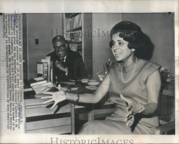 1965 Press Photo Patricia Harris Ambassador Luxembourg Howard office law - Historic Images