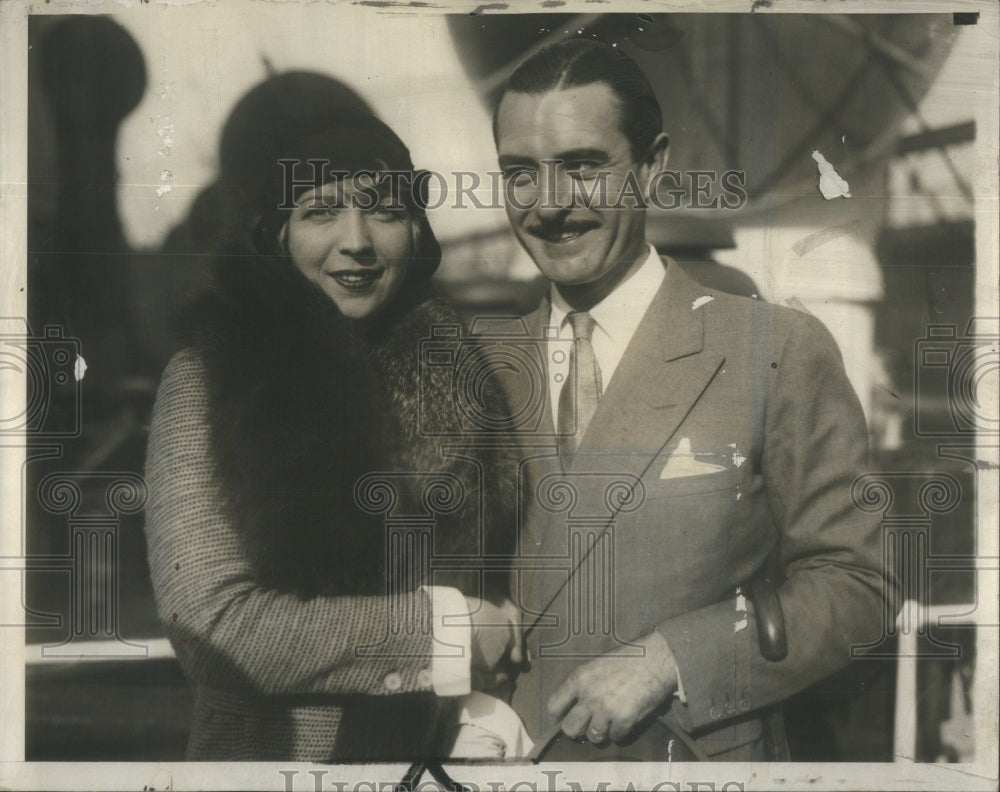 1930 John Gilbert American Silent Film Actor & Wife - Historic Images