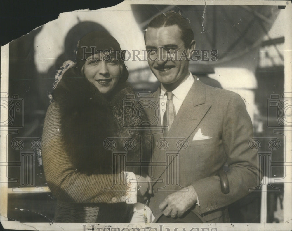 1929 John Gilbert American Silent Era Film Actor & Wife - Historic Images