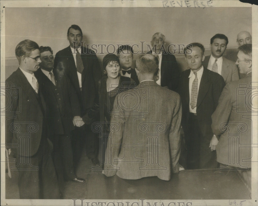 1930 Mrs Leeney Trial Jurors - Historic Images