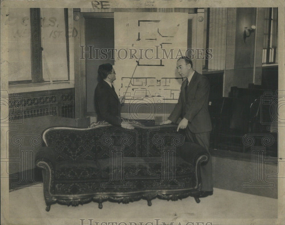 1930 Ross Laird Point Chair Attorney George Lavin Point Map -Rooms - Historic Images