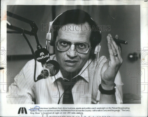 1983 TV host Larry King - Historic Images