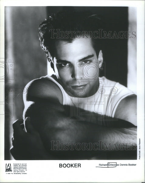 Richard John Grieco Jr American actor fashion model Booker Dennis - Historic Images
