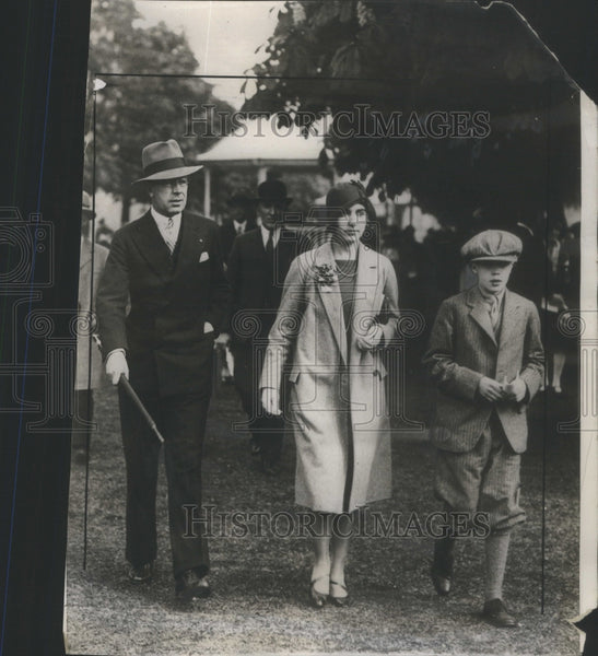 1929 Crown Prince Gustaf Sweden Princess Ingrid sister - Historic Images
