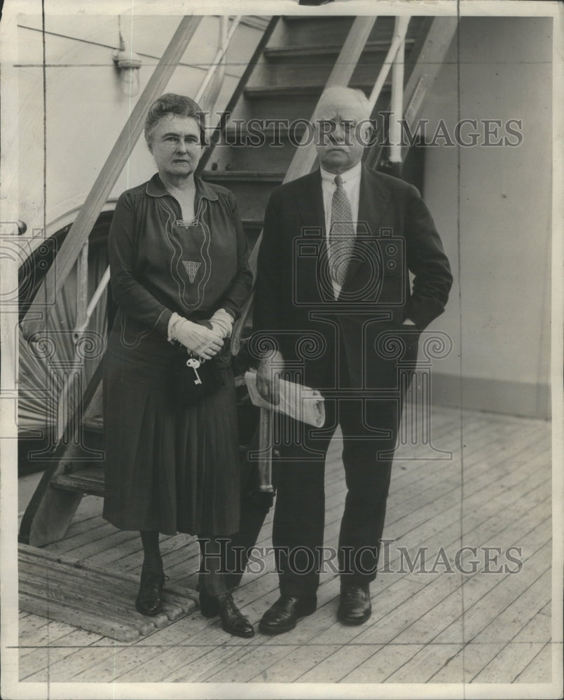1931 Carter Harisson Mayor Chicago Wife Tour Italy - Historic Images