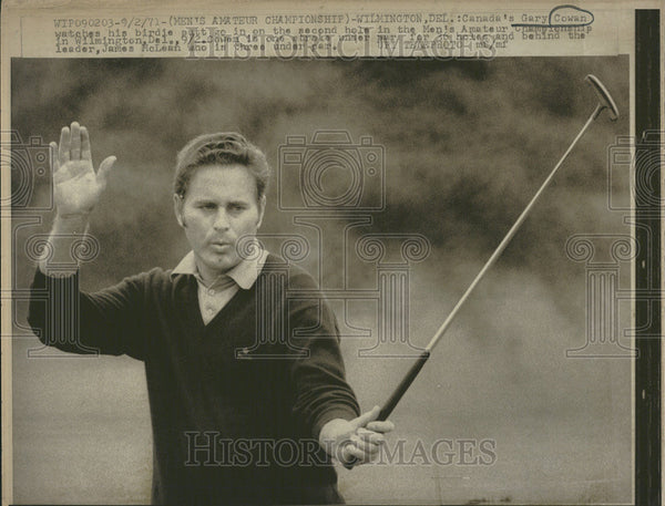 1971 Press Photo Gary Cowan, Canadian Golfer - Historic Images