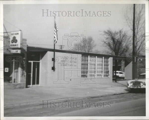 1957 Press Photo United States Post Office Building Midlothian Illinois - Historic Images