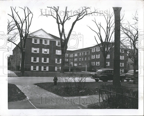 1956 Press Photo HOUSING EVANSTON - Historic Images