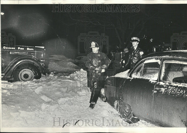 1967 Press Photo Chicago Area Illinois Snowstorms - Historic Images