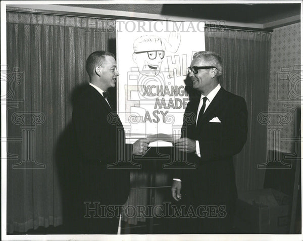 1964 Press Photo J David Huskin, President of Colorado Traders Club - Historic Images