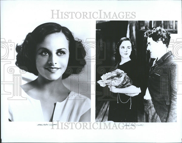 1990 Press Photo Actress Paulette Goddard - Historic Images