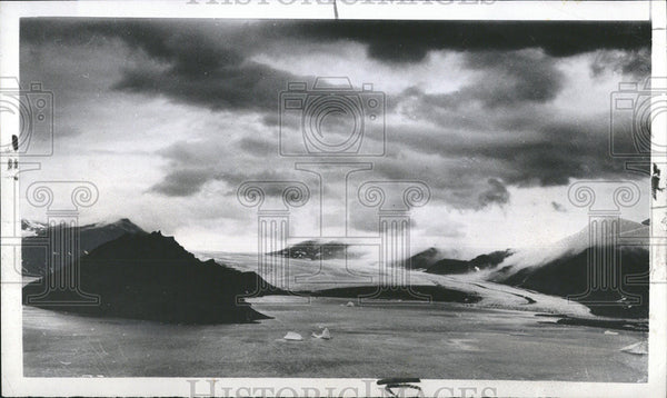 1953 Press Photo Northern Greenland Landscape Planet Mars - Historic Images