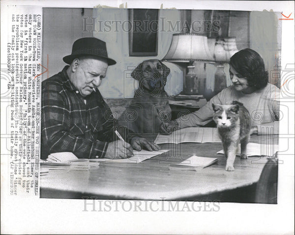 1964 Press Photo Election Voters White Mountain Town Millsfield New Hampshire - Historic Images