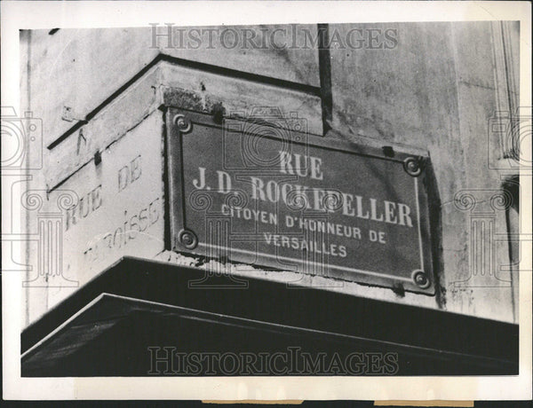 1936 Press Photo Rue Rockefeller Lead Louis Place Versailles Street American - Historic Images