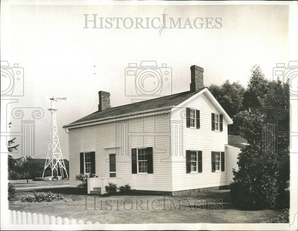 1936 Press Photo Modest White House Division Road Dearborn Recondition Mr Ford - Historic Images